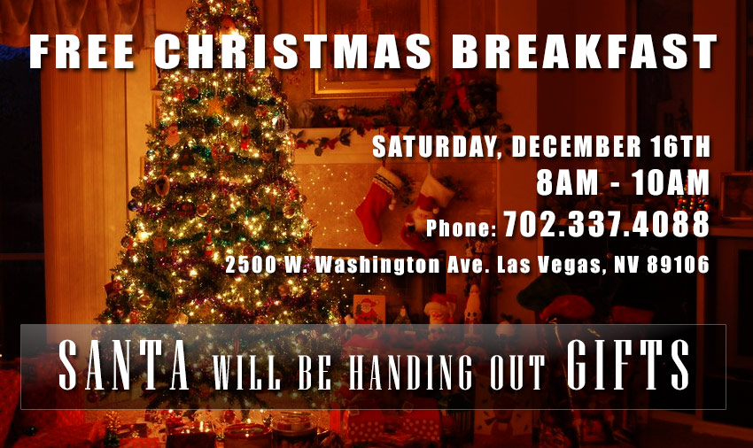 FREE Christmas Breakfast On December 16, 2017 At 8am-10am
